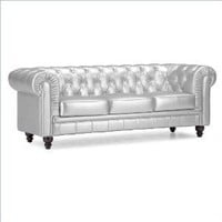 Amazon.com: White Leather Zuo Aristocrat Sofa: Home & Garden
