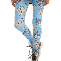 Blue Cat Friends Leggings