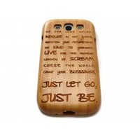 Wooden Samsung Galaxy S3 case - Just be