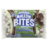 Kraft Jet-Puffed Mallow Bites Chocolate Mint Flavored Marshmallows 8 oz