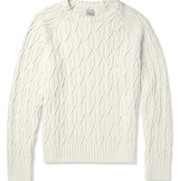 Hardy Amies - Cable Knit Cotton Sweater | MR PORTER