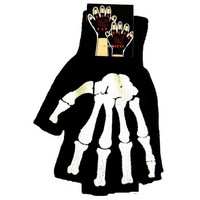Cut Off Work Glove White Bone by Hollywood Mirror (Black)