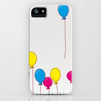 Cyan, magenta, yellow balloons iPhone & iPod Case by MJB photo design