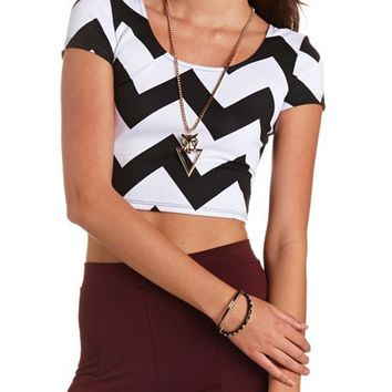 PRINTED BOW-BACK CROP TOP