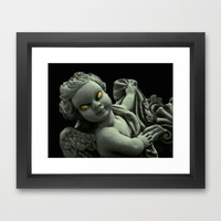 Evil Angel Framed Art Print by Danflcreativo