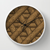 Real Wood Pattern Wall Clock by Danflcreativo