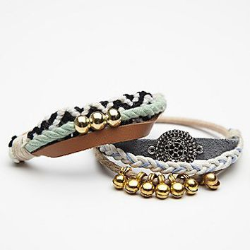 Free People Pom Pom Embellished Hair Tie Duo