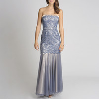 Decode 1.8 Women's Lace Overlay Shimmer Gown