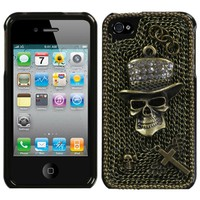"""Diamond Skull"" iPhone 4 Case"
