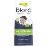 Biore Charcoal Self Heating Mask - 4 count