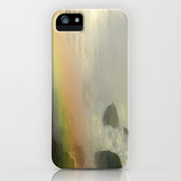 Waterfall and Rainbow  iPhone & iPod Case by Sari Klein