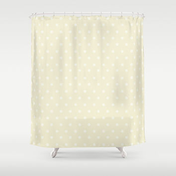 Polka Spots Shower Curtain by Texnotropio