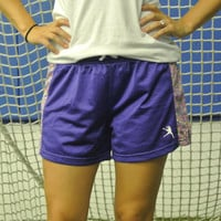 Girls Mesh Lacrosse Shorts - Purple Dots | Lacrosse Unlimited