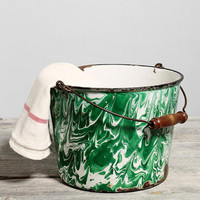 Urban Outfitters Vintage Green Agate Enamelware Bucket from Urban Outfitters | BHG.com Shop