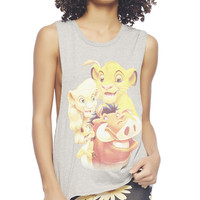 Lion King Double Twist Back Tank | Wet Seal