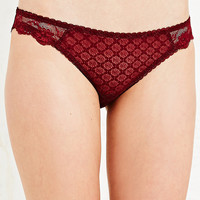 Lace Briefs in Burgundy - Urban Outfitters
