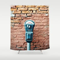 Parking Meter Shower Curtain by CAPow!