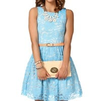 Kat-Powder Blue Prom Dress