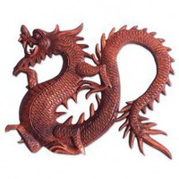 Novica 'Fiery Dragon' Wall Panel - 69721 - Decor