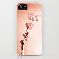 THE LAST ROSE IN THE WORLD iPhone & iPod Case by Ylenia Pizzetti
