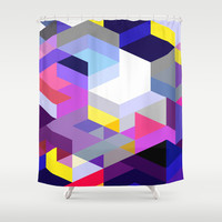 Pink Diamonds Shower Curtain by House of Jennifer