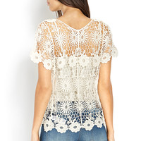 Open Daisy Crochet Top