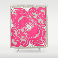 Nouveaux Petales de Rose Shower Curtain by House of Jennifer