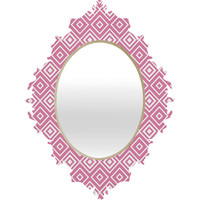 Lisa Argyropoulos Diamonds Are Forever Blush Baroque Mirror