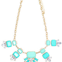 Mint Medley Statement Necklace