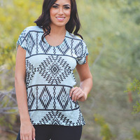 Writings On The Wall Tunic - Mint