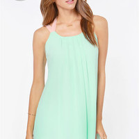 LULUS Exclusive Sorbet Soiree Mint Shift Dress