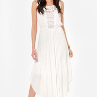Lace in the Sun Ivory Maxi Dress