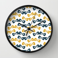 Zany Du Bow Tie Pattern Wall Clock by Zany Du Designs