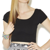 Twist Back Crop Top | Wet Seal