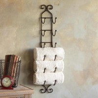 a mano 6-towel rack
