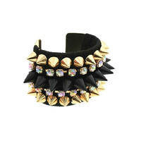 Heather Spiked Cuff Bracelet
