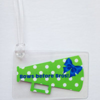 Cheer Bow Bag Tag Cheerbow Bag Tag Stingrays Cheer Inspired Bow Bag Tag Polka Dot Cheerleading Bow Bag Tag Cheerleader Bow Bag Tag Cheertagz