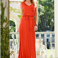 Orange (ORDC) Maxi With Tassel Detail