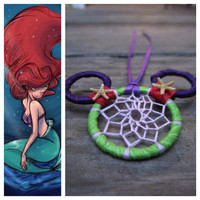 Ariel Themed Dream Catcher Keychain