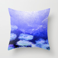 under the sea Throw Pillow by Sari Klein