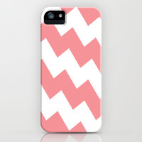 Chevron Bias in Coral iPhone & iPod Case by House of Jennifer