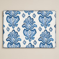 BLUE IKAT REVERSIBLE PLACEMATS, SET OF 4