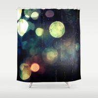 Late Night Shower Curtain by Yoshigirl
