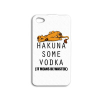 HAKUNA SOME VODKA Phone Case Funny iPhone Case Hakuna Matata Disney iPod Cover iPhone 4 iPhone 5 iPhone 5s iPhone 4s Cute Simba iPod 4 Case