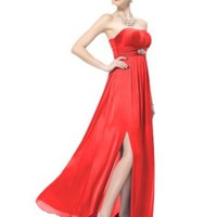 Ever Pretty Empire Line Diamante Ruffles Strapless Party Evening Formal Prom Bridesmaid Dress 09698
