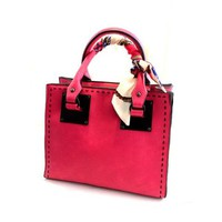 Stitching Simple Square Handbag Purse Crossbody Shoulder Bag