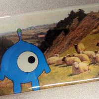 Sheep Invasion refrigerator magnet