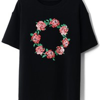 Retro Rose Wreath T-Shirt