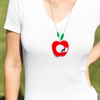 Apple me! pendant necklace