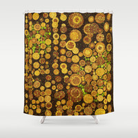 Glitter Grunge Shower Curtain by Webgrrl